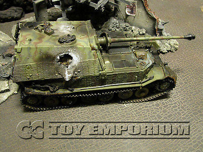 """VERY RARE""  Forces Of Valor 1:32 Scale Custom ""Battle Damaged"" WWII German Elefant Tank"