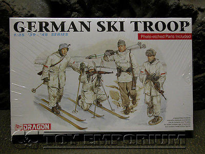 """BRAND NEW"" Dragon Models 1:35 Scale Deluxe WWII ""German Ski Troops"" Model Kit"