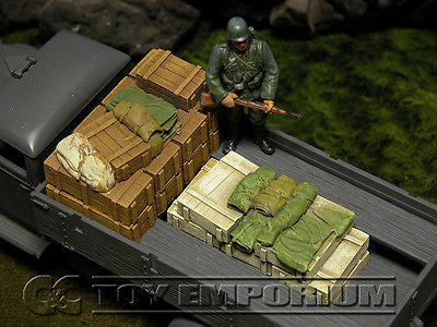 """RETIRED & BRAND NEW"" Build-a-Rama 1:32 WWII Deluxe Supply Stowage Set #1 (2 Piece Set)"