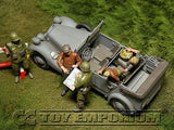 """BRAND NEW"" Custom Built - Hand painted & Weathered 1:35 Deluxe WWII ""Which Way To Berlin"" Set (5 Figures & Car Set)"