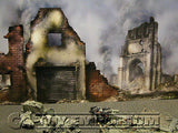 """BRAND NEW""  Build-a-Rama 1:32 Deluxe WWII Color ""Fallen City"" Museum Back Drop"