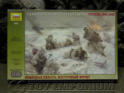 "Zvezda Models 1:35 Scale Deluxe WWII ""German Infantry - Eastern Front"" Model Kit"