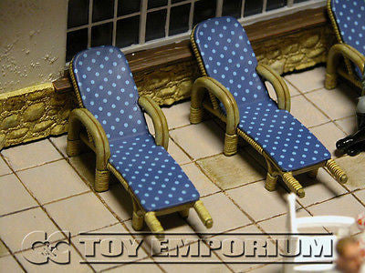 "RETIRED King & Country 1:30 ""Berghof Collection"" Deluxe  Sun Lounge Set (2)"