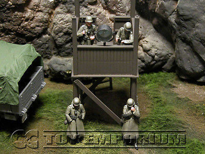 """BRAND NEW"" Custom Built & Hand Painted 1:35 WWII Deluxe German Infantry ""Watch Tower"" Soldier Set (4 Figure Set)"