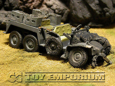 "VERY RARE!  Forces Of Valor 1:32 Scale Custom ""Battle Damaged"" WWII German Personnel Truck"