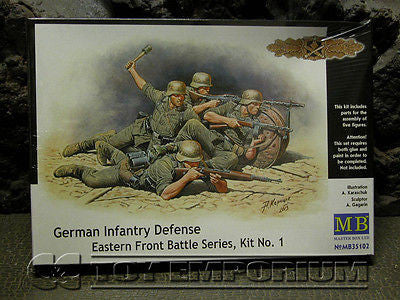 """BRAND NEW"" Master Box Models 1:35 Scale Deluxe WWII ""German Infantry - Defense"" Model Kit"