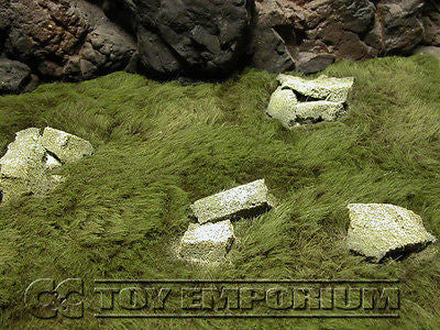 """BRAND NEW"" Build-a-Rama 1:32 Deluxe Medium ""Grass & Stone Ruins Battlefield Mat #1  (24""x12"")"