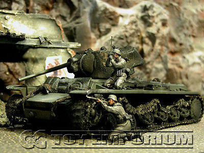 "VERY RARE!  Forces Of Valor Custom ""Battled Damaged"" WWII Russian KV-1 Tank"