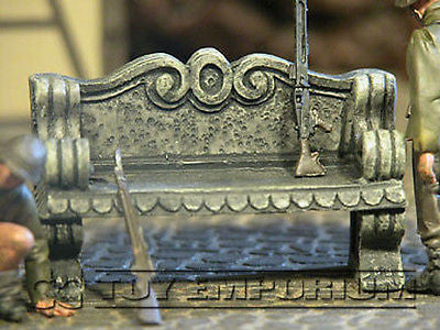 """BRAND NEW"" 1:32 Custom Painted Deluxe Stone Bench Diorama Exclusive Piece"