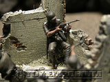 """BRAND NEW"" Custom Built - Hand Painted & Weathered 1:35 WWII Deluxe German Infantry ""Eastern Front"" Soldier Set (5 Figure Set)"