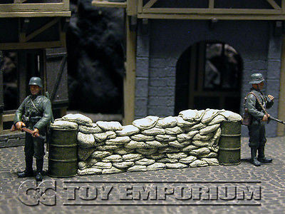 """RETIRED & BRAND NEW"" Build-a-Rama 1:32 Hand Painted WWII Deluxe Sandbag Barricade Wall Section #1"