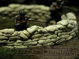 """RETIRED & BRAND NEW"" Build-a-Rama 1:32 Hand Painted WWII Deluxe Curved Sandbag Wall Set #1 (2 Piece)"