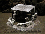 """RETIRED & BRAND NEW"" Build-a-Rama 1:32 Hand Painted WWII ""Winter"" Command Post"
