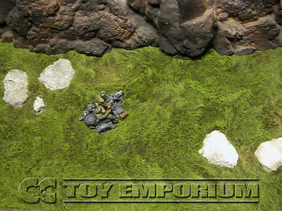 """BRAND NEW"" Build-a-Rama 1:32 Deluxe ""Pasture With Stones"" Battlefield Table Mat  (24""x12"")"
