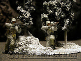 """RETIRED & BRAND NEW"" Build-a-Rama 1:32 Hand Painted WWII ""Winter"" Tree Group"