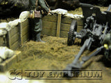"""RETIRED & BRAND NEW"" Build-a-Rama 1:32 Hand Painted WWII Deluxe Sandbag Trench Wall Set #1 (5 Piece Set)"