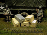 """RETIRED & BRAND NEW"" Build-a-Rama 1:32 WWII Deluxe Medium Gear & Ammo Crate Set #1  (5 Piece Set)"
