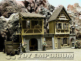 """BRAND NEW"" Custom Built & Painted 1:35 Deluxe Old German City Diorama 2 Building Set"