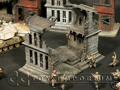"""RETIRED & BRAND NEW"" Build-a-Rama 1:32 Hand Painted WWII Church Ruin w/Roof"