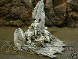 """RETIRED"" Sunix World 1:32 Hand Painted Deluxe ""Winter"" House Ruin"