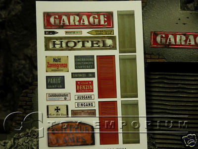 """BRAND NEW"" Build-a-Rama 1:32 Authentic WWII Street Front Sign Set"