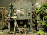 """RETIRED"" Hand Painted & Weathered ""COMPLETELY ASSEMBLED"" 1:35 WWII Custom 3 Story Home Ruin"