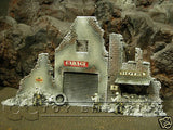 """RETIRED & BRAND NEW"" Build-a-Rama 1:32 Hand Painted WWII Deluxe ""Winter"" Street Front Facade Ruin Set (2 Piece Set)"