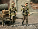 """BRAND NEW"" Custom Built & Hand Painted 1:35 WWII German Anti Tank Team Soldier Set (2 Figure Set)"