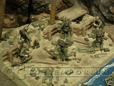 """RETIRED"" Pro Built - Hand Painted & Weathered Verlinden 1:35 Custom Built Deluxe WWII Tarawa Diorama"