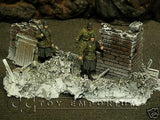 """RETIRED & BRAND NEW"" Build-a-Rama 1:32 Hand Painted WWII ""Winter"" Bombed Out Building"