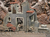 """RETIRED"" Pro Built - Hand Painted & Weathered Verlinden 1:35 WWII Custom Built Italian Farm Ruin"