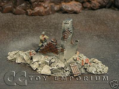 """RETIRED & BRAND NEW"" Build-a-Rama 1:32 Hand Painted WWII Bombed Out Building #2"
