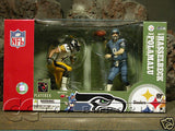 VERY RARE!  McFarlane -  Hasselbeck vs Polamalu Box Set