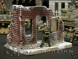"""RETIRED & BRAND NEW"" Build-a-Rama 1:32 Hand Painted WWII ""Winter"" City Building"