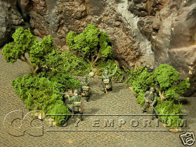 """RETIRED"" Build-a-Rama 1:32 Hand Painted WWII Bocage Set (3 Piece Set)"