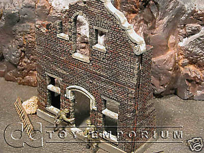 """RETIRED"" Verlinden Pro Built - Hand Painted & Weathered 1:35 WWII Custom 2 Story House Ruin"