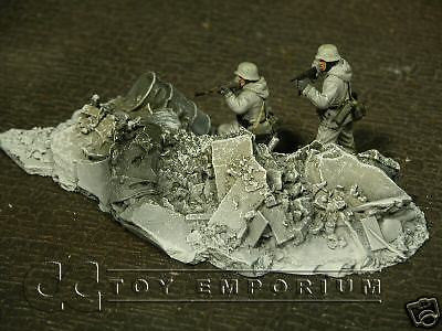 """RETIRED & BRAND NEW"" Build-a-Rama 1:32 Hand Painted WWII ""Winter"" Rubble Pile #1"