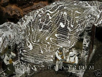 """RETIRED & BRAND NEW"" Build-a-Rama 1:32 Hand Painted WWII ""Winter"" Camo Net Set (3 Piece Set)"