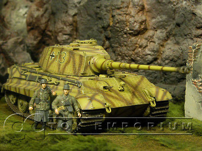"""RETIRED"" Dragon Armor 1:35 - Deluxe WWII German King Tiger Tank w/ ""Henschel Turret & Zimmerit"""