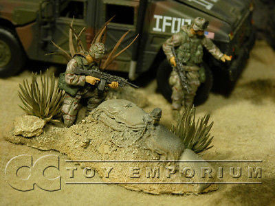 """RETIRED & BRAND NEW"" Build-a-Rama 1:32 Hand Painted WWII Desert Ambush Terrain"