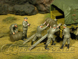 """BRAND NEW"" Custom Built & Hand Painted 1:35 WWII German Soldiers Loading Drums (5 Figure Set)"