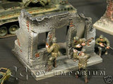 """RETIRED & BRAND NEW"" Build-a-Rama 1:32 Hand Painted WWII Deluxe City Building Ruin"