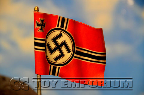 """RETIRED & BRAND NEW"" Build-a-Rama 1:32 Scale Hand Painted WWII German Battle Flag Pole Set"