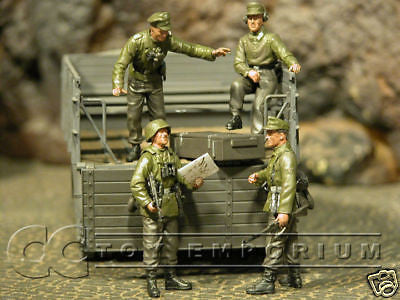 """BRAND NEW"" Custom Built & Hand Painted 1:35 WWII German Wiking Recon Set (4 Figure Set)"