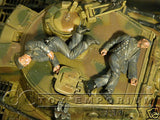"""BRAND NEW"" Custom Built - Hand Painted & Weathered 1:35 WWII Wounded German Tankers Set (2 Figure Set))"