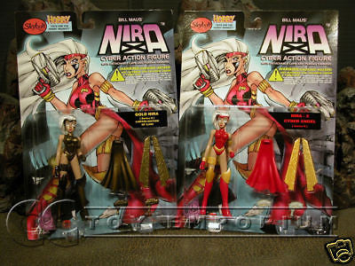 "VERY RARE & LONG SOLD OUT!  Nira X ""Cyber Angel #2"" By ""Bill Maus"" Figures MINT!"