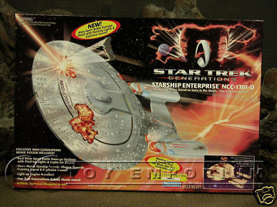 "VERY RARE Star Trek ""Generations"" Enterprise 1701-D ""Battle Damaged""  MIB"