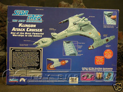 """VERY RARE"" Star Trek ""TNG"" Klingon Attack Cruiser MIB"