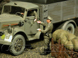 """BRAND NEW"" Custom Built & Hand Painted 1:35 WWII German ""Checking The Papers"" Set (2 Figure Set)"