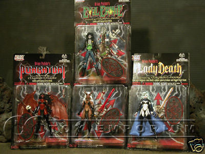 VERY RARE & LONG SOLD OUT! Brian Pulido's Lady Death Complete 4 Figure Set MINT!